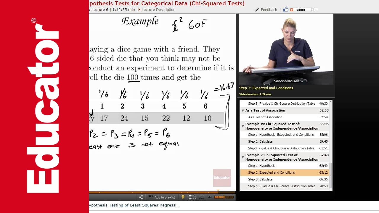 Chi Square Test Of Independence Ap Statistics Youtube