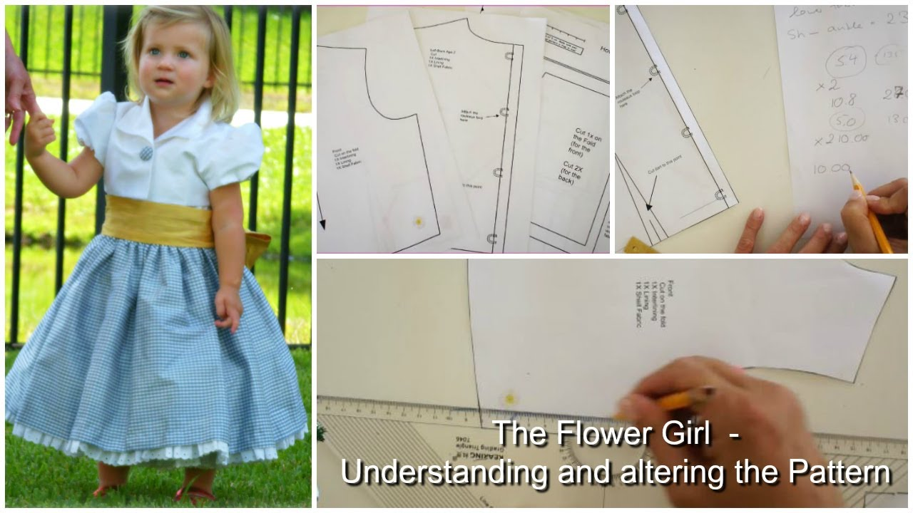 How to sew a flower girl dress - The pattern explained - YouTube