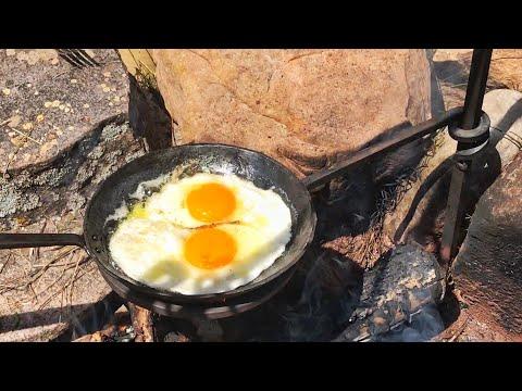 Forged Skillet Holder - Campfire Cooking