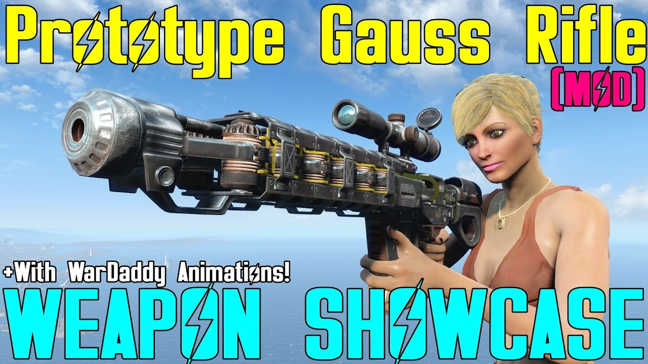 Fallout 4: Weapon Showcases: Prototype Gauss Rifle (Mod)