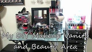 Diy Makeup Vanity And Beauty Area