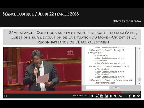 Meyer Habib groupe UDI à l'Assemblée Nationale le 22 02 2018