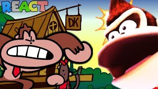 Something about Donkey Kong Country ANIMATED 🐒 by TerminalMontage - REACTION | LUIGIKID REACTS