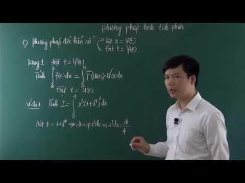 Tính tích phân-Phương pháp đổi biến số
