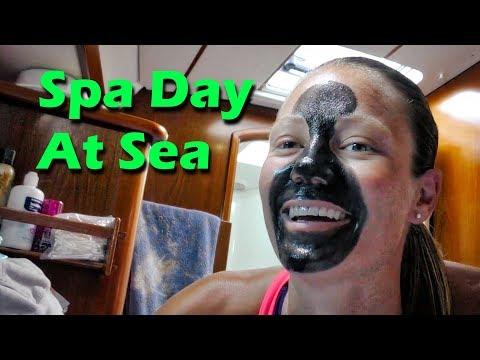 Spa Day at Sea! - Pacific Ocean Crossing - Day 5 - Sailing doodles