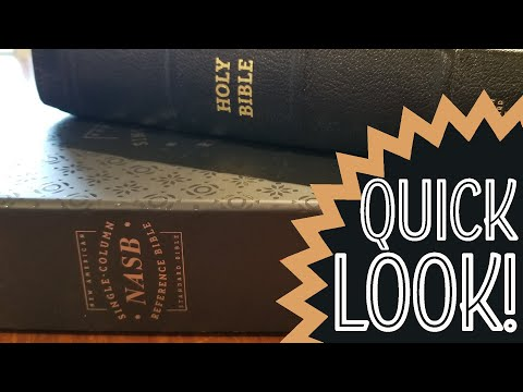 QUICK LOOK - Premier Collection NASB Single Column Reference From Zondervan (Black Goatskin)