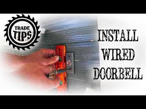 How to Install and hardwire a Doorbell Circuit - Reconstructing Spirit Hill Trade Tips