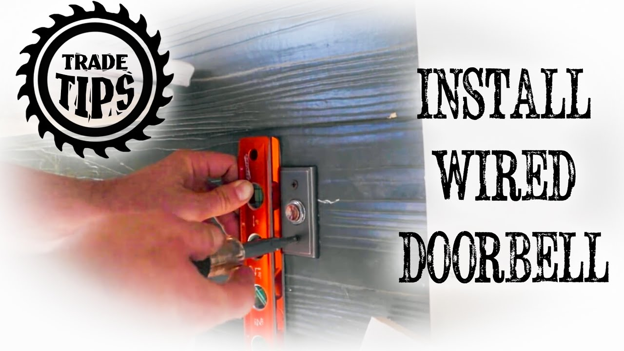 how to install and hardwire a doorbell circuit trade tips [ 1280 x 720 Pixel ]