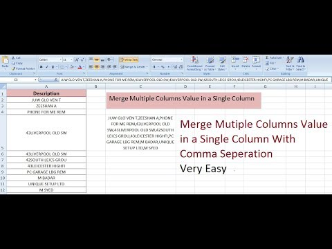 How to Merge Multiple Columns Value in Single Column with Comma Seperation