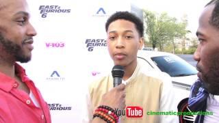 Atlanta R&B Artist Jacob Latimore at Ludacris Fast and Furious 6 event in ATL