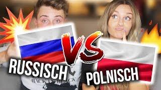POLNISCH vs. RUSSISCH - Sprachen Challenge EXTREM 💥 mit meinem VERLOBTEN   Dagi Bee