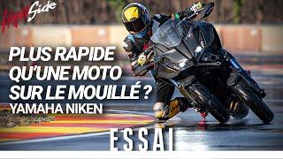 ESSAI : YAMAHA NIKEN - Plus rapide qu'une moto sous la pluie ?