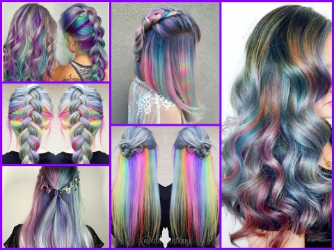 top20 holographic hair color hair trends youtube