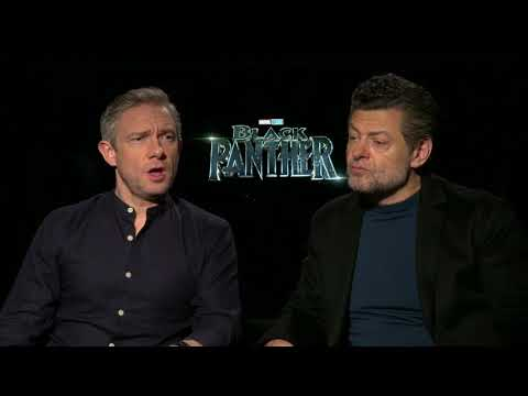 "Meet the ""White Guys"" of  Black Panther Martin Freeman & Andy Serkis Full interview"