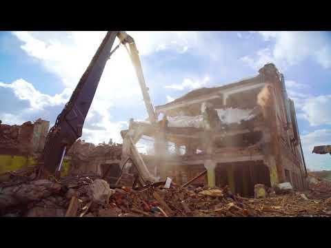 Экскаватор Volvo для сноса зданий