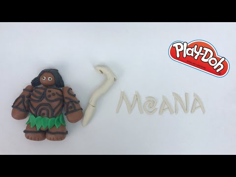 Maui do Filme Moana de Massinha Play Doh   Brincando de Massinha   RafaKids