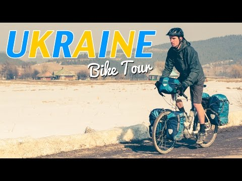 Bicycle Touring in UKRAINE - Free Bicycle Trainer Video