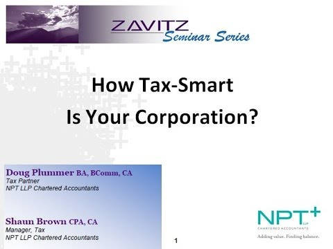 How Tax-Smart Is Your Professional Corporation?