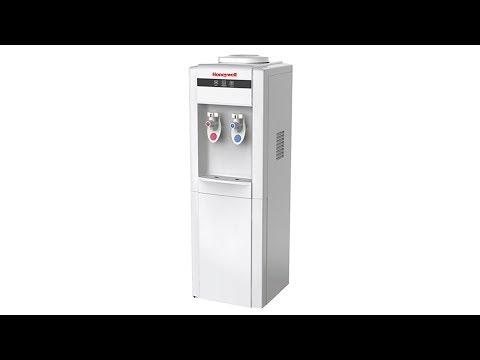 """Honeywell 38"""" Freestanding Toploading Water Cooler Dispenser - White (HWB1052W2)"""