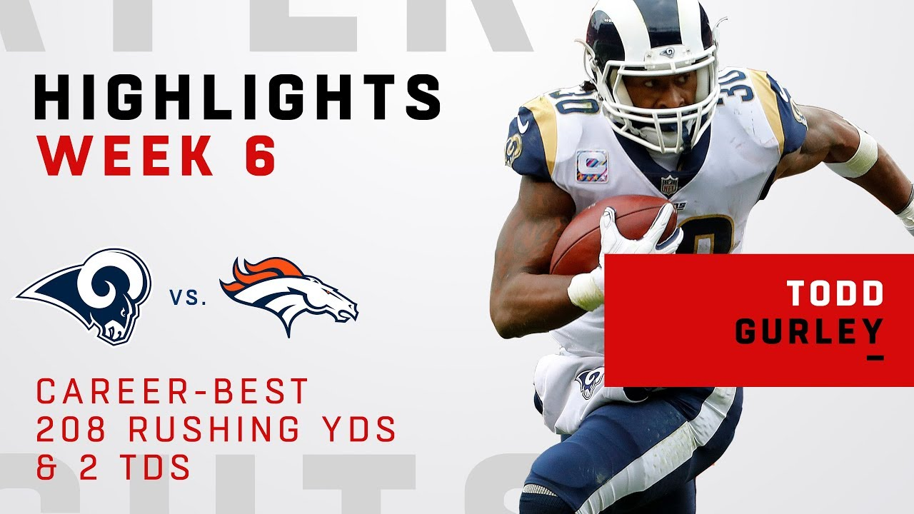 Todd Gurley's Career-Best 208 Rushing Yards & 2 TDs!