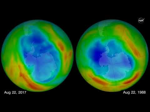 Warm Air Contributes to Smaller Ozone Hole