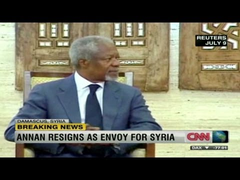 Kofi Annan resigns as Syria's UN envoy