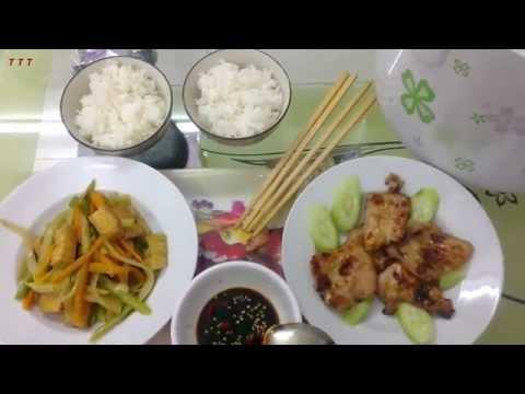 06 rau cu xao+thit nuong - thai trung thanh