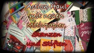 XXL Action Haul #2 Januar 2020 mit neuen Motivpapier,Stanzen,Glitzer und mehr