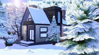 Modern Scandinavian Tiny House // Sims 4 Speed Build