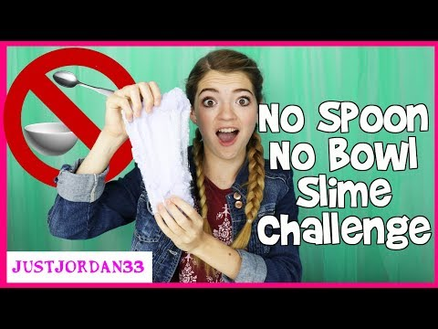 No Spoon No Bowl Cloud Slime Challenge / JustJordan33