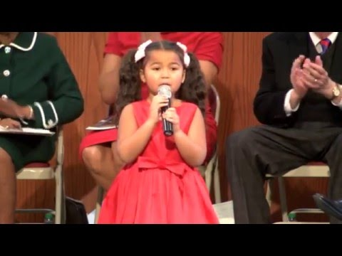 6 year old sings Who Would Imagine a King for Martin Luther King Jr. Day