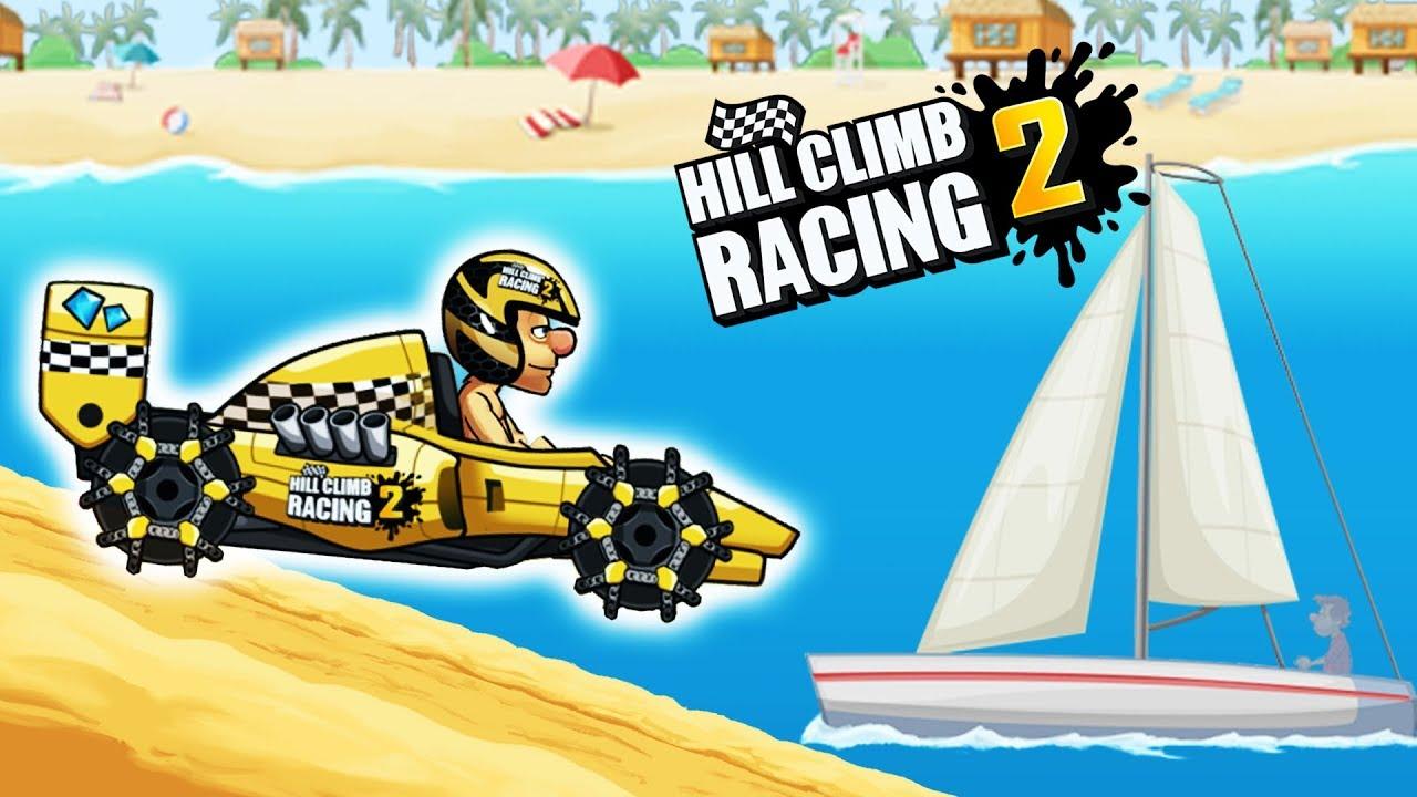 Hill Climb Racing 2 Formula On Beach World Record