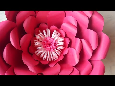 Large Size Giant Flower | Paper Assembly Flower | DIY Rose Tutorial (Large Size Paper Rose)