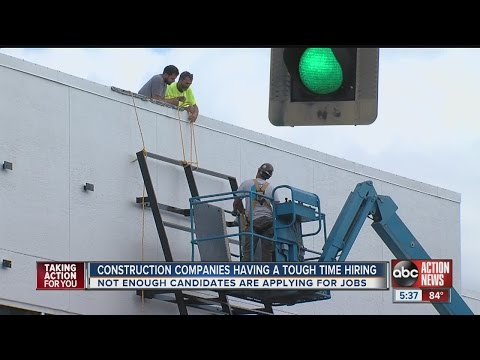 Construction industry reporting worker shortage as rental demand in Tampa rises