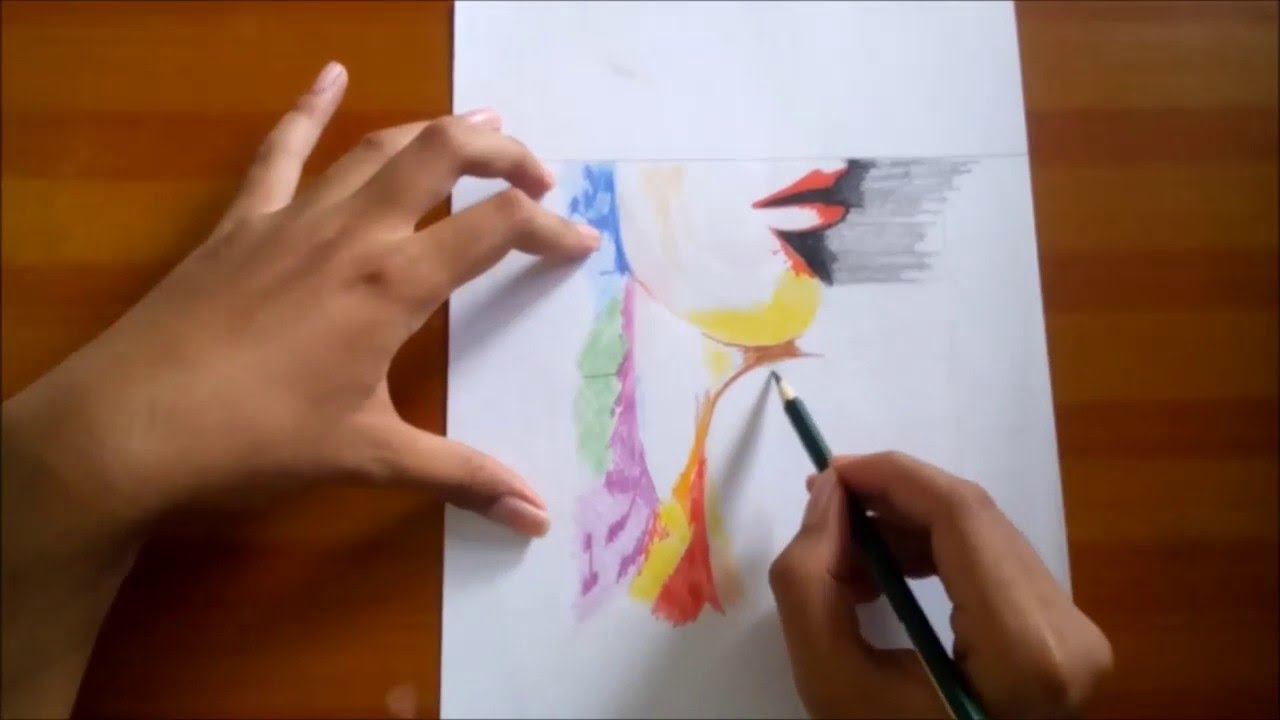 Woman In Abstract Drawing Abstract With Color Pencil Youtube