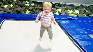 Toddler Trampoline Park! He loves It!
