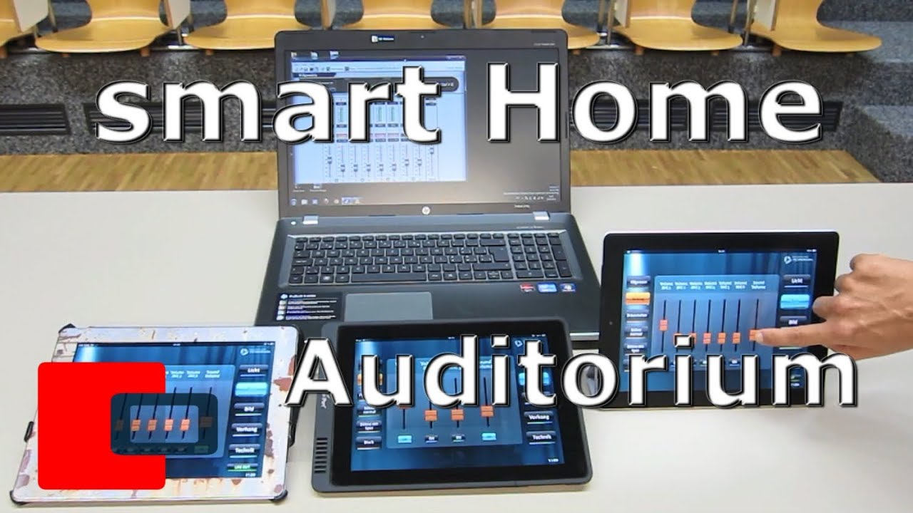 Smart Home Steuerung Smart Home Automation Auditorium Hörsaal Steuerung Ipad Audio Video Licht