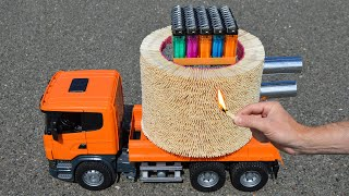🌋🚀 Amazing 30,000 Matches Powered Jet Truck