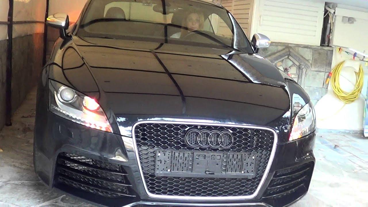 audi tt retrofit halogen to bi xenon led headlights with original rh youtube com Audi R8 Audi TT Coupe