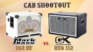 Cab Shootout - Gallien Krueger NEO 112 vs. Mark Bass 102 HF - Want 2 Check