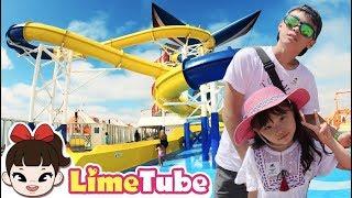 라임의 재밌는 워터슬라이드 | 크루즈 타고 멕시코 여행 LimeTube toy review