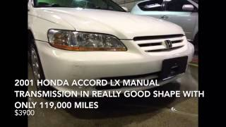 2001 Honda Accord LX five-speed manual for $3900