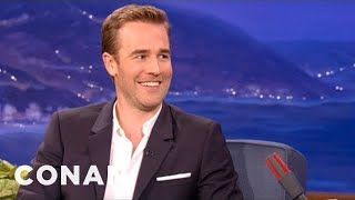 James Van Der Beek Gets Cut Short By The Fire Alarm - CONAN on TBS