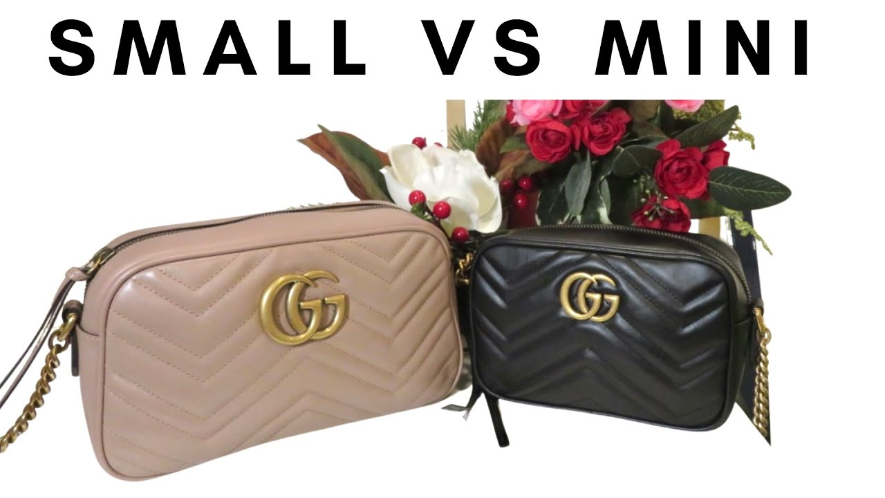 Gucci Marmont Camera Bag Small Vs Mini Size Ii What Fits Ii Mod Shots Youtube