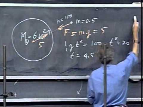 Lec 06: Newton's First, Second, and Third Laws | 8.01 Classical Mechanics, Fall 1999 (Walter Lewin)