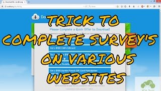 Repeat youtube video How to complete Fileice, Sharecash, Cleanfiles,etc Survey Successfully [May 2016]