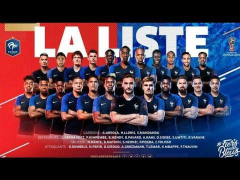 La liste de Didier Deschamps pour la Coupe du Monde 2018 en Russie