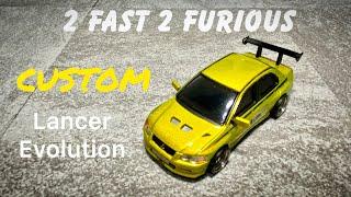 Fast and Furious Brian 1:64 Lancer Evolution vii TOMICA CUSTOM