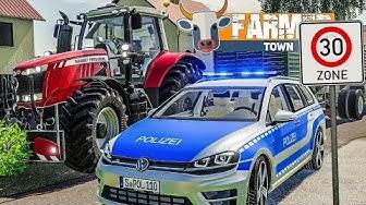 LS19 FarmerTown #59: Polizeikontrolle: Zu schnell mit dem Traktor!   LANDWIRTSCHAFTS SIMULATOR 19