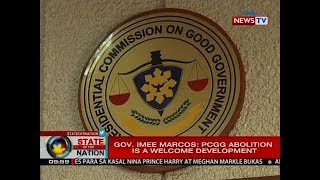 SONA: Gov. Imee Marcos: PCGG abolition is a welcome development